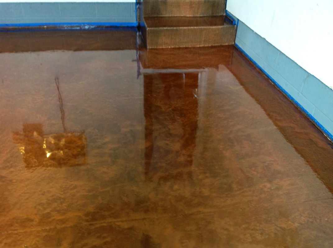 Epoxy overlays rocco risaliti construction inc we can apply an electric epoxy to give your garage floor the look of a polished marble showroom we can make your walls and floors look and feel like tile dailygadgetfo Images